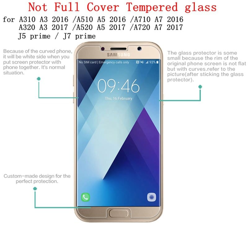 Tempered Glass For Samsung Galaxy S3 S4 S5 S6 A3 A5 J3 J5 Protective Film